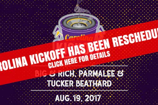 carolina kickoff rescheduled