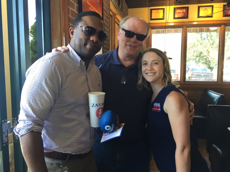 Join Don Chase & Sarah every other Thursday at Zaxby's from 11:30am-1:30pmfor a free lunch! The first 95 people to show up will receive a voucher for a free Big ZaxSnack Meal OR Nibblerz Meal. We are also giving away a Signature Oil Change from Jiffy Lube! This is also your chance to meet your…