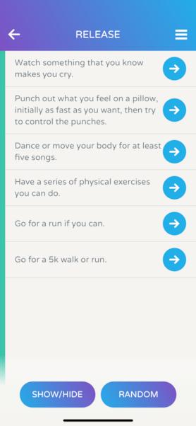 Screenshot Of Calm Harm App