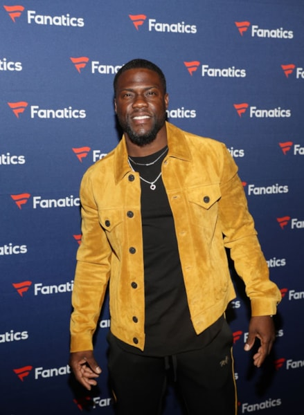 ATLANTA, GA - FEBRUARY 02:  Kevin Hart arrives at the Fanatics Super Bowl Party at College Football Hall of Fame on January 5, 2019 in Atlanta, Georgia.  (Photo by Tasos Katopodis/Getty Images for Fanatics)