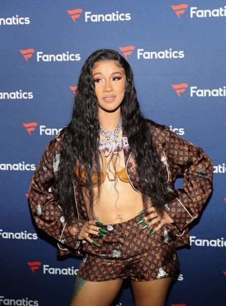 ATLANTA, GA - FEBRUARY 02:  Cardi B arrives at the Fanatics Super Bowl Party at College Football Hall of Fame on January 5, 2019 in Atlanta, Georgia.  (Photo by Tasos Katopodis/Getty Images for Fanatics)