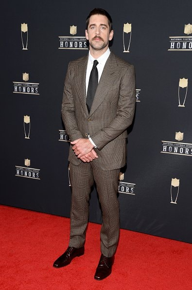 ATLANTA, GEORGIA - FEBRUARY 02: NFL player Aaron Rodgers attends the 8th Annual NFL Honors at The Fox Theatre on February 02, 2019 in Atlanta, Georgia. (Photo by Jason Kempin/Getty Images)