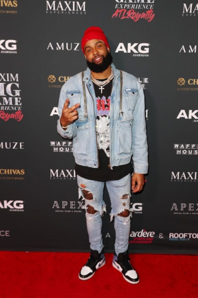 ATLANTA, GEORGIA - FEBRUARY 02: Odell Beckham Jr. attends The Maxim Big Game Experience at The Fairmont on February 02, 2019 in Atlanta, Georgia. (Photo by Joe Scarnici/Getty Images for Maxim)