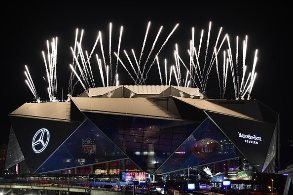 Super Bowl LIII's halftime extravaganza featured rappers Travis Scott and Big Boi. Plus Maroon 5, featuring Adam Levine wearing grandma's curtains at one point, and next to nothing at another point. Click on the images below to load up the full sized gallery!