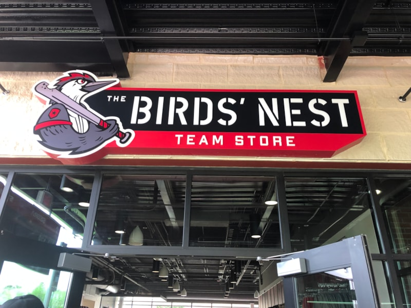 The Bird's Nest fan shop is now open for business at Segra Stadium, home of the Fayetteville Woodpeckers.