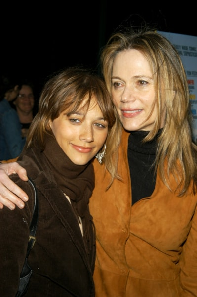 NEW YORK - SEPTEMBER 30: Actress Rashida Jones (L) and her mother Peggy Lipton arrive for a special screening of 'The Station Agent' at Walter Reade Theater September 30, 2003 in New York City. (Photo by Lawrence Lucier/Getty Images)